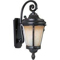 "Maxim Lighting - Odessa - 11 1/2"" Cast 1-Light Outdoor Wall Lantern in Espresso with Latte Glass"