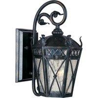 "Maxim Lighting - Clearance - 8"" 1-Light Outdoor Wall Lantern in Artesian Bronze with Seedy Glass"