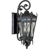 "Maxim Lighting - Clearance - 9 1/2"" 3-Light Outdoor Wall Lantern in Artesian Bronze with Seedy Glass"