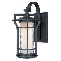 Maxim Lighting - Oakville - Outdoor Wall Lantern in Black Oxide with Water Glass Glass