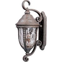 "Maxim Lighting - Whittier DC - 12"" Whittier Cast 3-Light Outdoor Wall Lantern in Earth Tone with Water Glass"