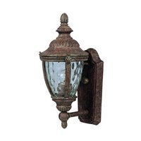 "Maxim Lighting - Morrow Bay DC - 7"" Cast 1-Light Outdoor Wall Lantern in Earth Tone with Water Glass"