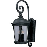"Maxim Lighting - Dover VX - 10"" 3-Light Outdoor Wall Lantern in Bronze with Seedy Glass"