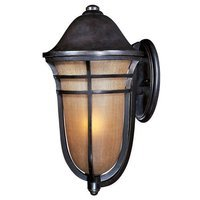 "Maxim Lighting - Westport VX - 13"" 1-Light Outdoor Wall Lantern in Artesian Bronze with Mocha Cloud Glass"
