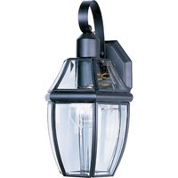 "Maxim Lighting - South Park - 7"" 1-Light Outdoor Wall Lantern in Black with Clear Glass"