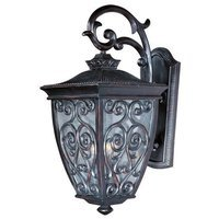 "Maxim Lighting - Newbury VX - 13"" 3-Light Outdoor Wall Lantern in Oriental Bronze with Seedy Glass"
