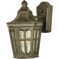 "Maxim Lighting - Beacon Hill VX - 7"" 1-Light Outdoor Wall Lantern in Sienna with Seedy Glass"