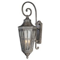 "Maxim Lighting - Beacon Hill VX - 12 1/2"" 3-Light Outdoor Wall Lantern in Sienna with Seedy Glass"