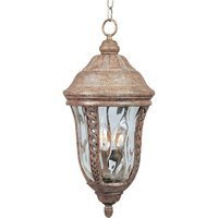 "Maxim Lighting - Whittier VX - 10"" Whitter VX 3-Light Outdoor Hanging Lantern in Earth Tone with Water Glass"