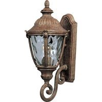 "Maxim Lighting - Morrow Bay VX - 8 1/2"" 1-Light Outdoor Wall Lantern in Earth Tone with Water Glass"