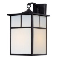 "Maxim Lighting - Craftsman Aluminum - 9"" 1-Light Outdoor Wall Lantern in Burnished with Honey Glass"