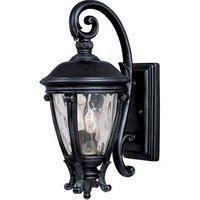 "Maxim Lighting - Camden VX - 8 1/2"" 2-Light Outdoor Wall Lantern in Black with Water Glass"