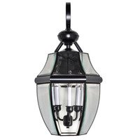 "Maxim Lighting - South Park - 12"" 3-Light Outdoor Wall Lantern in Burnished with Clear Glass"