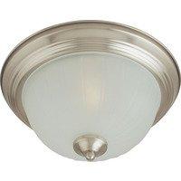 Maxim Lighting - Essentials - 583x - Essentials 3-Light Flush Mount in Satin Nickel