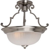 "Maxim Lighting - Satin Nickel - 14 1/2"" 2-Light Semi-Flush Mount in Satin Nickel with Frosted Glass"