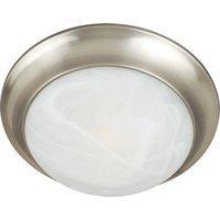 "Maxim Lighting - Satin Nickel - 14"" 2-Light Flush Mount in Satin Nickel with Marble Glass"