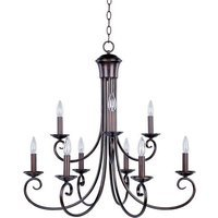 "Maxim Lighting - Loft - 29 1/2"" 9-Light Chandelier in Oil Rubbed Bronze"