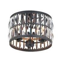 Maxim Lighting - Madeline - 3-Light Flush Mount in Black