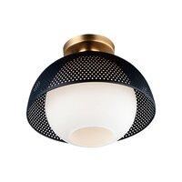 Maxim Lighting - Perf - 1-Light Flush Mount in Black & Satin Brass