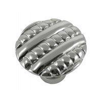 "MNG Hardware - Ribbed - 1 3/8"" Knob in Satin Antique Nickel"