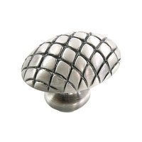 "MNG Hardware - Quilt - 1 1/2"" Egg in Satin Antique Silver"