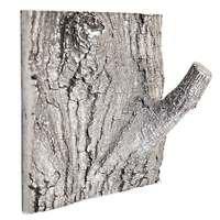Modern Objects - Tile & Hooks - Tree Hook Tile Small in Antique Brass