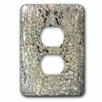 Jazzy Wallplates - Solid Colors - Single Duplex Wall Plate With Image Of Mirror Glass Closeup