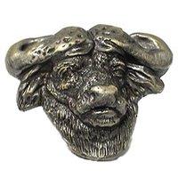 Novelty Hardware - Safari - Big 5 Cape Buffalo Knob in Antique Brass