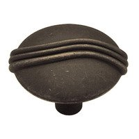 "Liberty Hardware - Oil Rubbed Bronze - Knuckle Knob 1 3/8"" in Distressed Oil Rubbed Bronze"