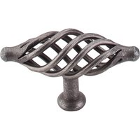 Top Knobs - Normandy - Large Oval Twist Knob in Pewter