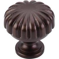 """Top Knobs - Oil Rubbed Bronze - Melon Cut Knob 1 1/4"""" in Oil Rubbed Bronze"""