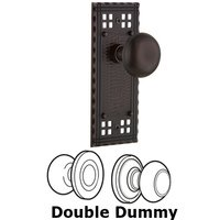 Nostalgic Warehouse - Craftsman - Privacy Craftsman Plate with New York Door Knobs in Timeless Bronze