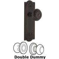 Nostalgic Warehouse - Meadows - Complete Privacy Set - Meadows Plate with Meadows Door Knob in Timeless Bronze