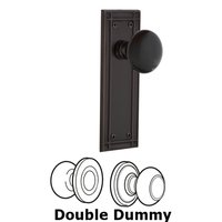 Nostalgic Warehouse - Mission - Privacy Mission Plate with Black Porcelain Knob in Satin Nickel