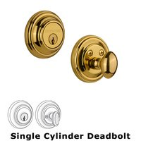 Nostalgic Warehouse - Classic - Single Deadbolt in Unlacquered Brass