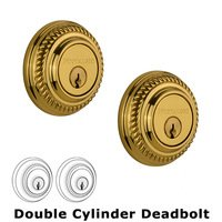 Nostalgic Warehouse - Rope - Double Deadbolt in Unlacquered Brass