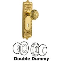 Nostalgic Warehouse - Egg & Dart - Complete Privacy Set with Keyhole - Egg & Dart Plate with Egg & Dart Door Knob in Timeless Bronze