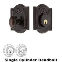 Nostalgic Warehouse - Meadows - Single Deadbolt - Meadows Deadbolt in Timeless Bronze