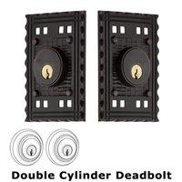 Nostalgic Warehouse - Craftsman - Double Deadbolt - Craftsman Deadbolt in Timeless Bronze