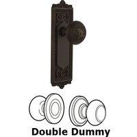 Nostalgic Warehouse - Egg & Dart - Double Dummy Knob - Egg & Dart Plate with Egg & Dart Door Knob in Oil-rubbed Bronze