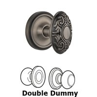 Nostalgic Warehouse - Classic - Complete Passage Set - Classic Rosette with Victorian Door Knob in Timeless Bronze