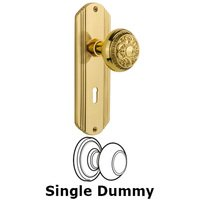 Nostalgic Warehouse - Deco - Complete Privacy Set with Keyhole - Deco Plate with Egg & Dart Door Knob in Timeless Bronze