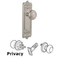 Nostalgic Warehouse - Egg & Dart - Complete Privacy Set - Egg & Dart Plate with Deco Door Knob in Timeless Bronze
