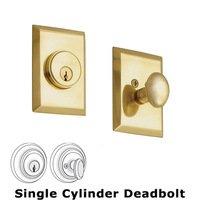 Nostalgic Warehouse - New York - Single Cylinder Deadbolt in Antique Brass