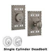 Nostalgic Warehouse - Craftsman - Single Deadbolt in Satin Nickel