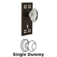 Nostalgic Warehouse - Craftsman - Single Dummy Craftsman Plate with Oval Clear Crystal Knob and Keyhole in Oil Rubbed Bronze