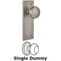 Nostalgic Warehouse - Mission - Single Dummy Mission Plate with Craftsman Knob in Satin Nickel