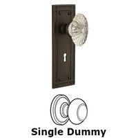 Nostalgic Warehouse - Mission - Privacy Mission Plate with Oval Fluted Crystal Knob and Keyhole in Satin Nickel