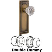 Nostalgic Warehouse - Mission - Privacy Mission Plate with Crystal Knob in Satin Nickel