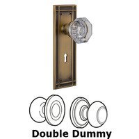 Nostalgic Warehouse - Mission - Privacy Mission Plate with Waldorf Knob and Keyhole in Satin Nickel